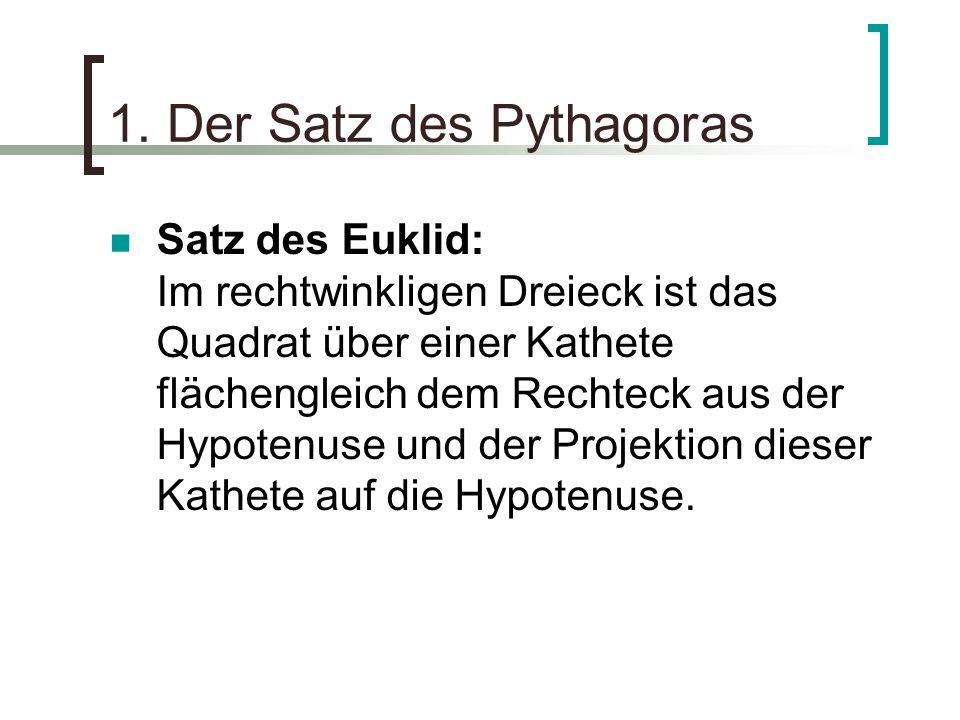 1. Der Satz des Pythagoras