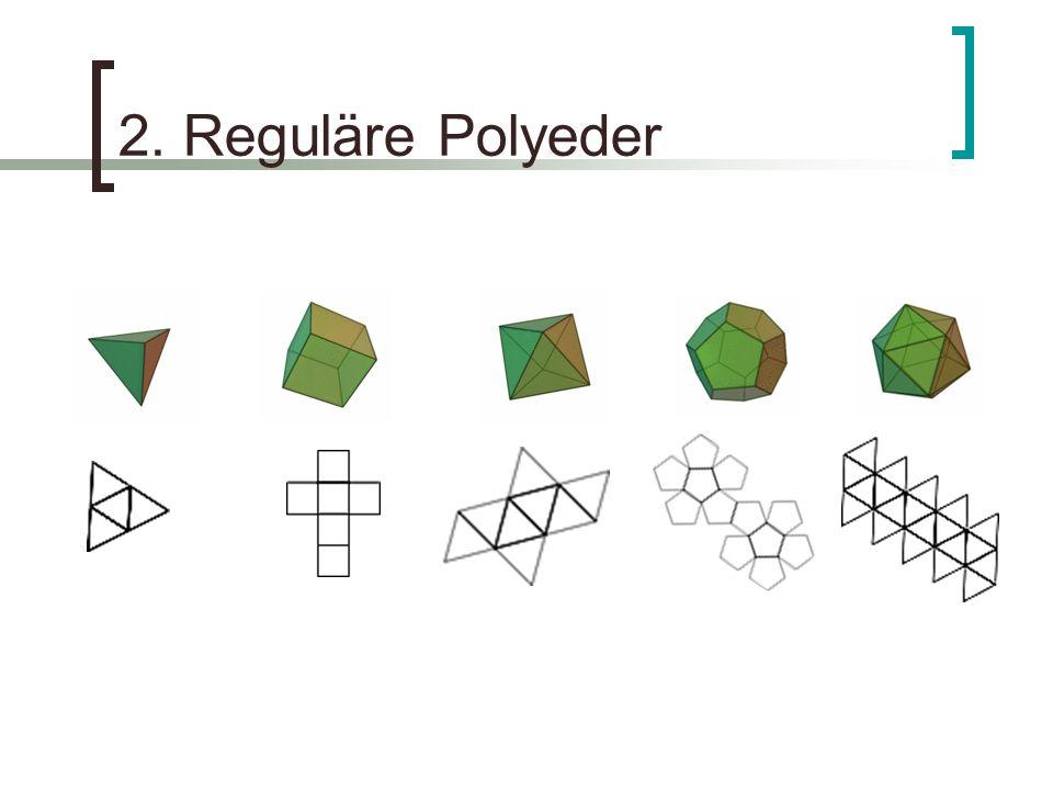 2. Reguläre Polyeder