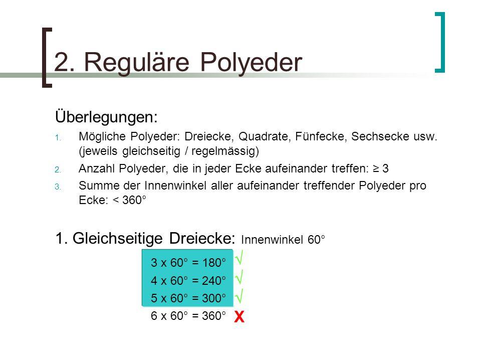 2. Reguläre Polyeder Überlegungen: