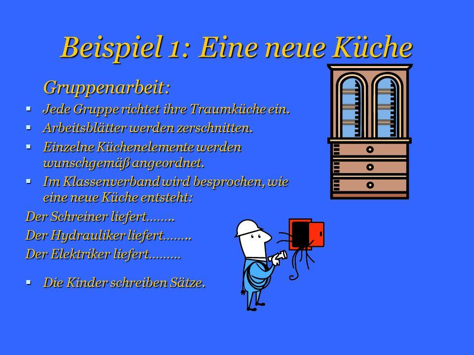 Beispiel 1: Eine neue Küche