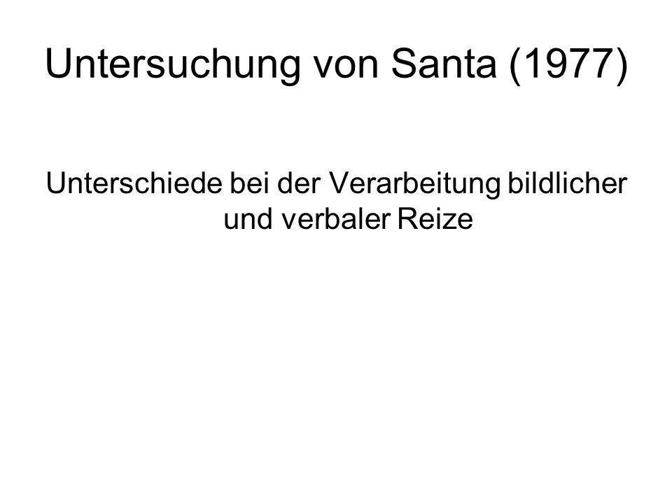 Untersuchung von Santa (1977)