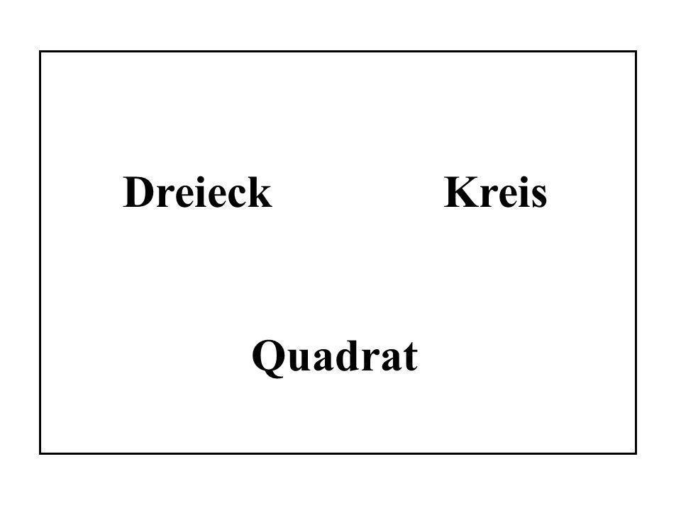 Dreieck Kreis Quadrat
