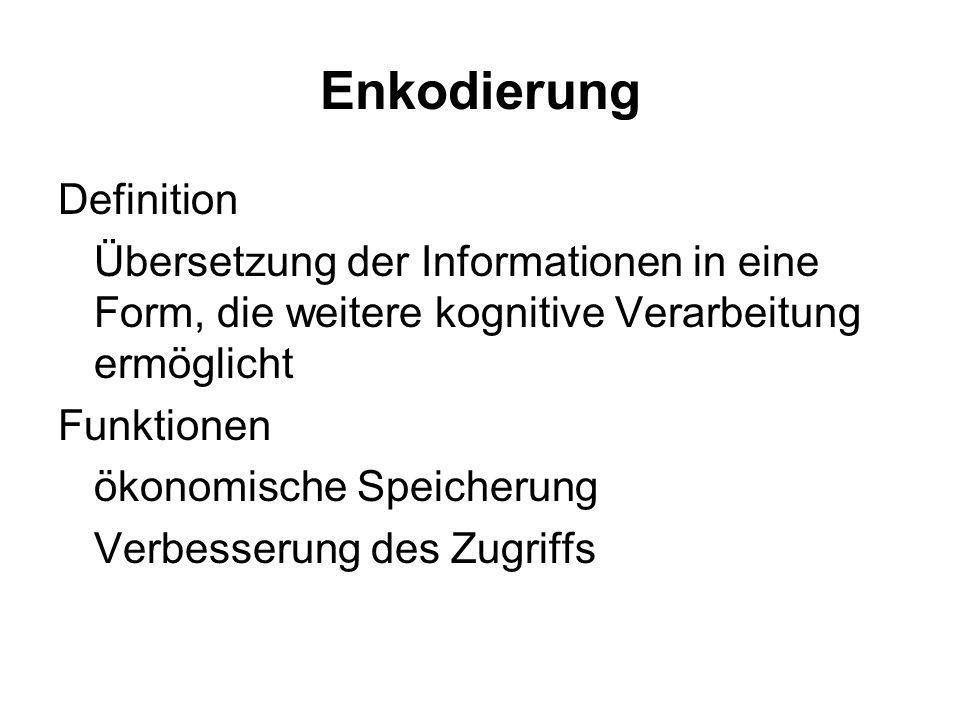 Enkodierung Definition