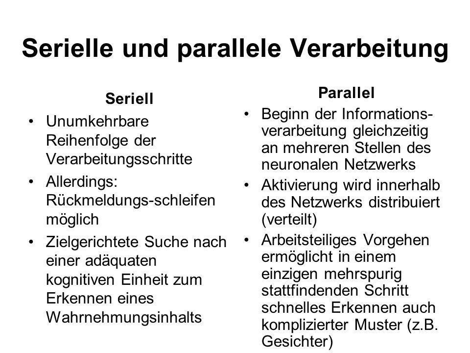 Serielle und parallele Verarbeitung