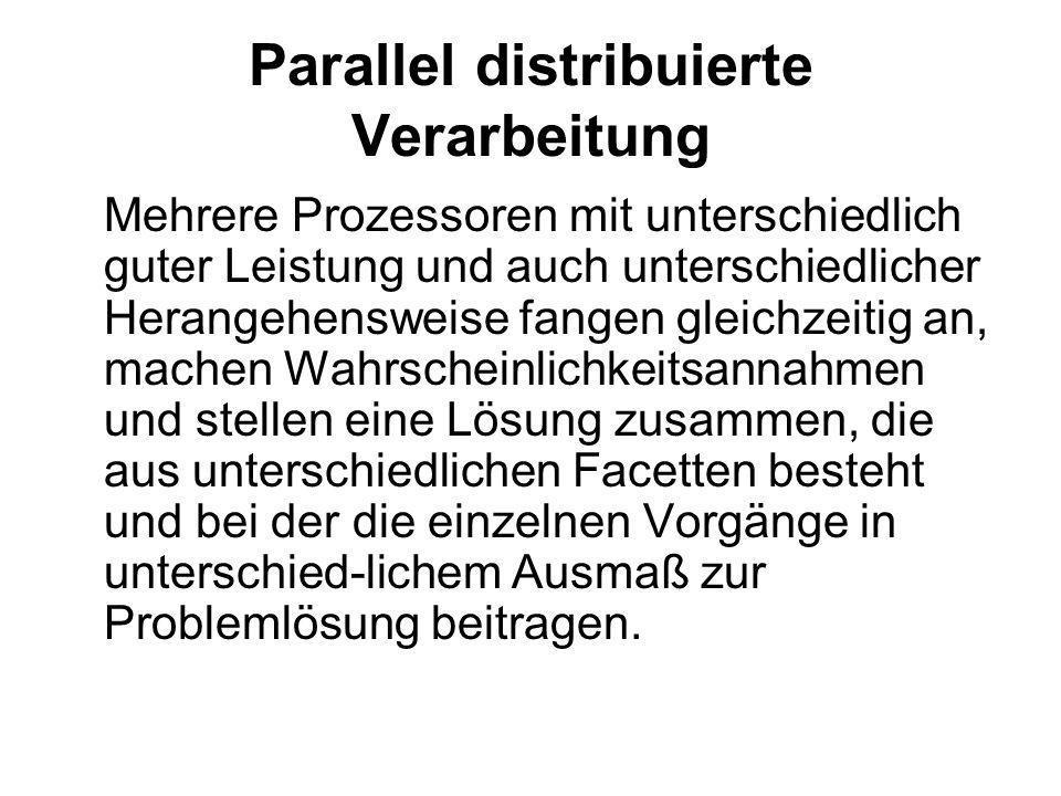 Parallel distribuierte Verarbeitung