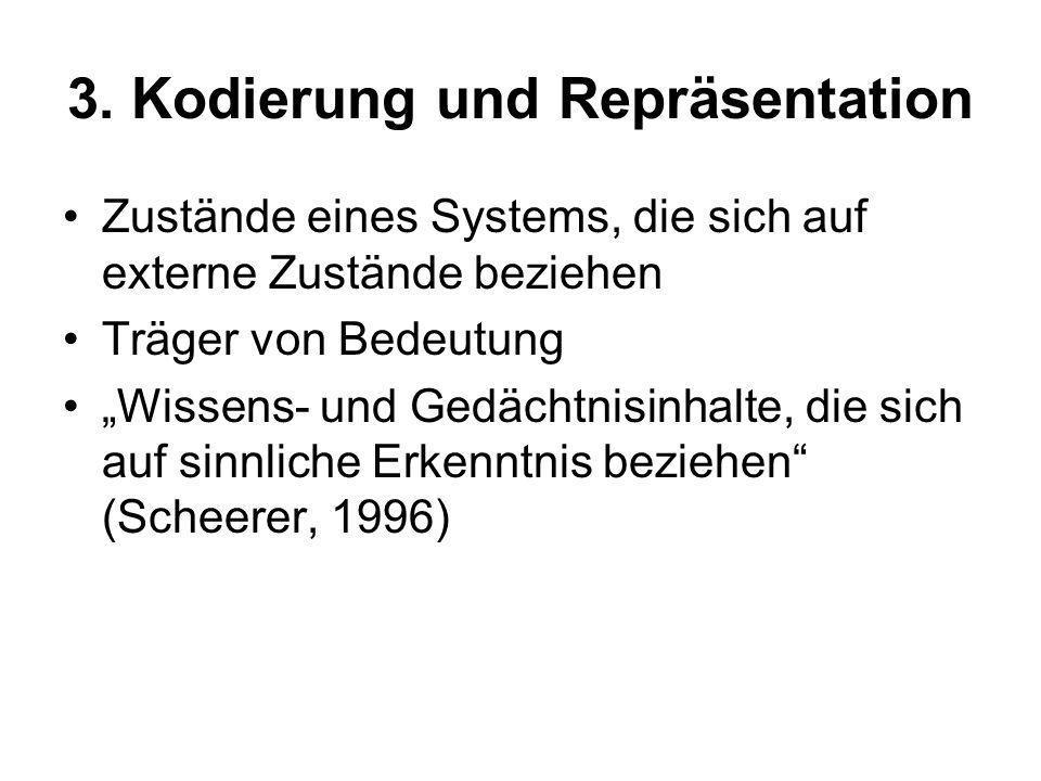 3. Kodierung und Repräsentation