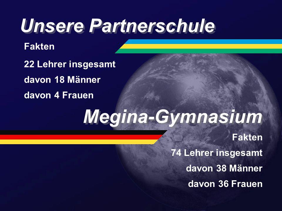 Unsere Partnerschule Megina-Gymnasium Fakten 22 Lehrer insgesamt