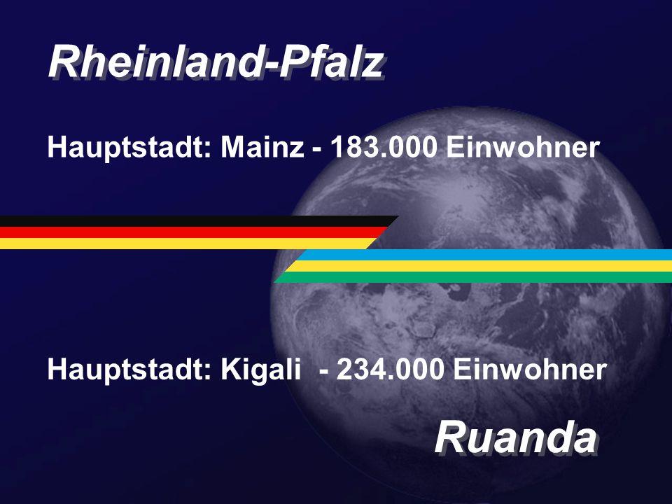 Rheinland-Pfalz Ruanda Hauptstadt: Mainz - 183.000 Einwohner