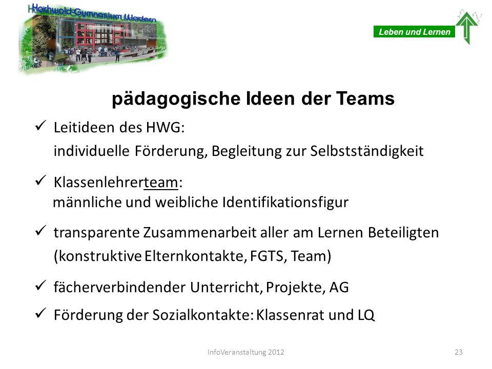 pädagogische Ideen der Teams