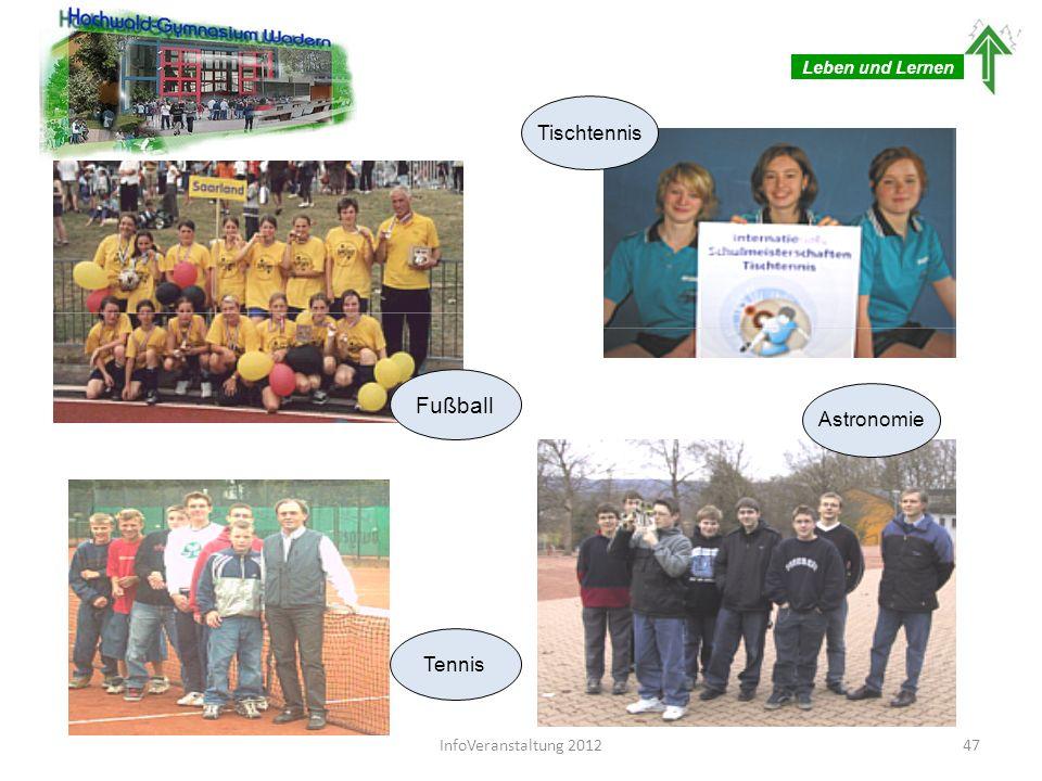 Fußball Tischtennis Astronomie Tennis Leben und Lernen