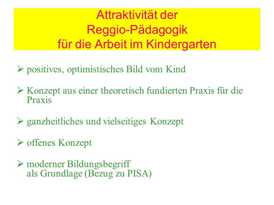 Attraktivität der Reggio-Pädagogik für die Arbeit im Kindergarten