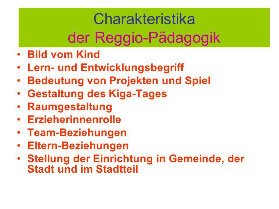 Charakteristika der Reggio-Pädagogik