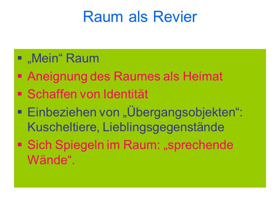 "Raum als Revier ""Mein Raum Aneignung des Raumes als Heimat"