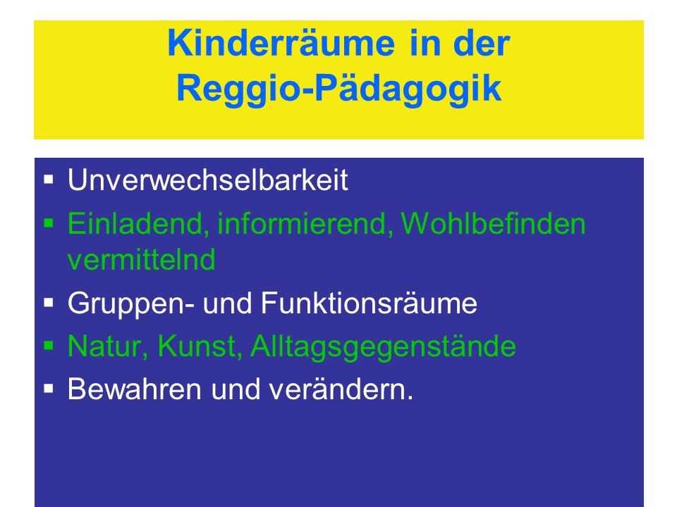 Kinderräume in der Reggio-Pädagogik