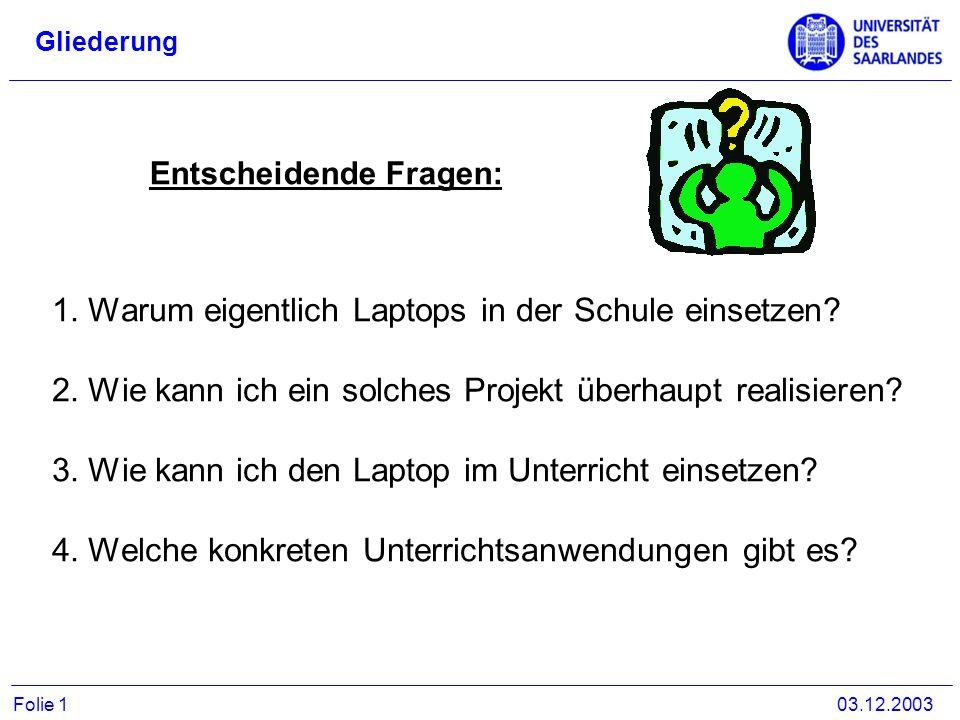 Warum eigentlich Laptops in der Schule einsetzen
