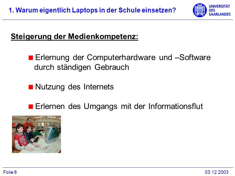 Erlernung der Computerhardware und –Software durch ständigen Gebrauch