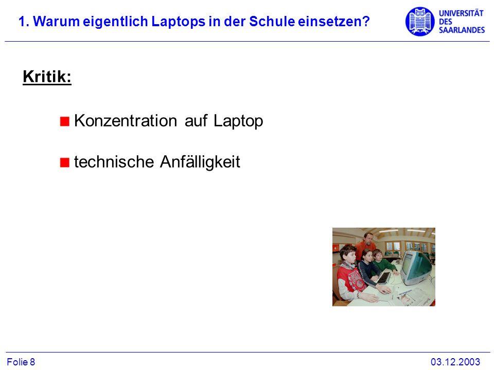 Konzentration auf Laptop technische Anfälligkeit