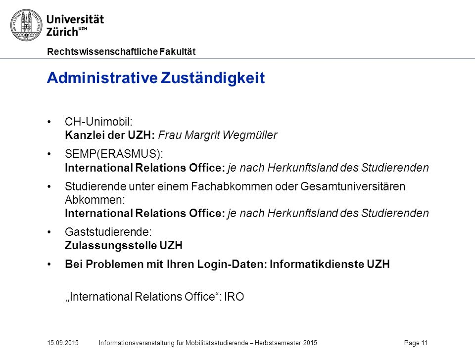 Administrative Zuständigkeit