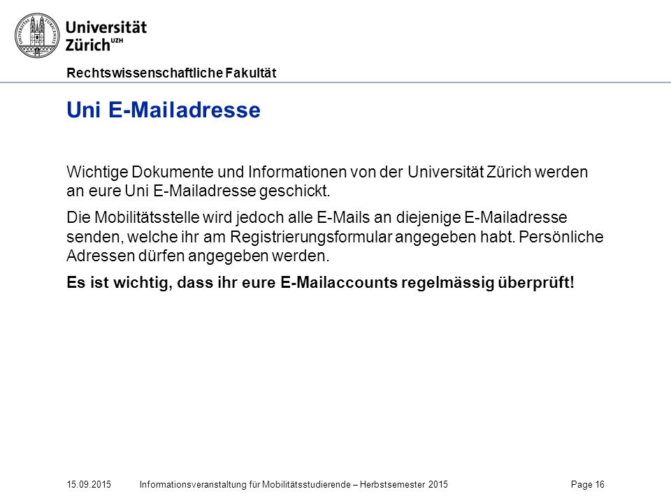 Faculty of Law Uni E-Mailadresse.
