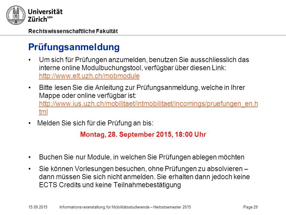 Faculty of Law Prüfungsanmeldung.