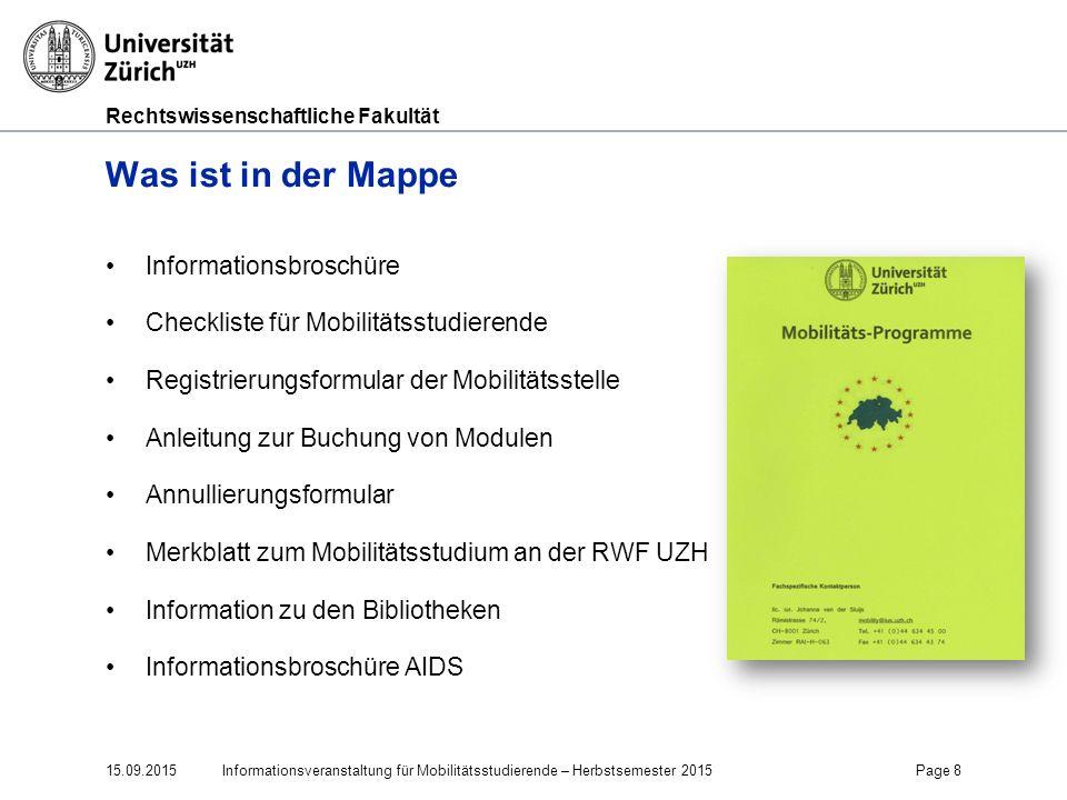 Was ist in der Mappe Informationsbroschüre