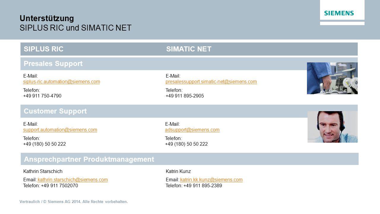 Unterstützung SIPLUS RIC und SIMATIC NET