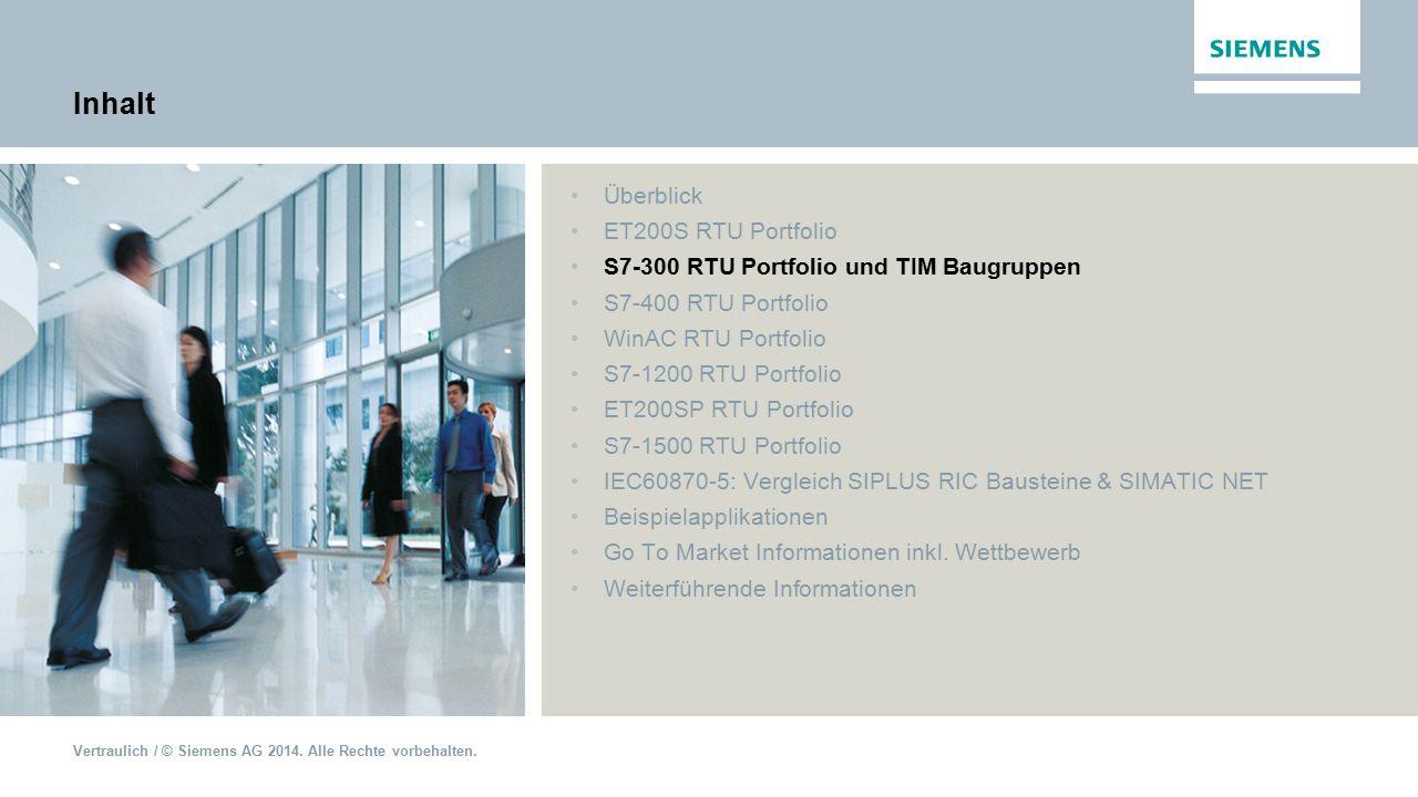 Inhalt Überblick ET200S RTU Portfolio