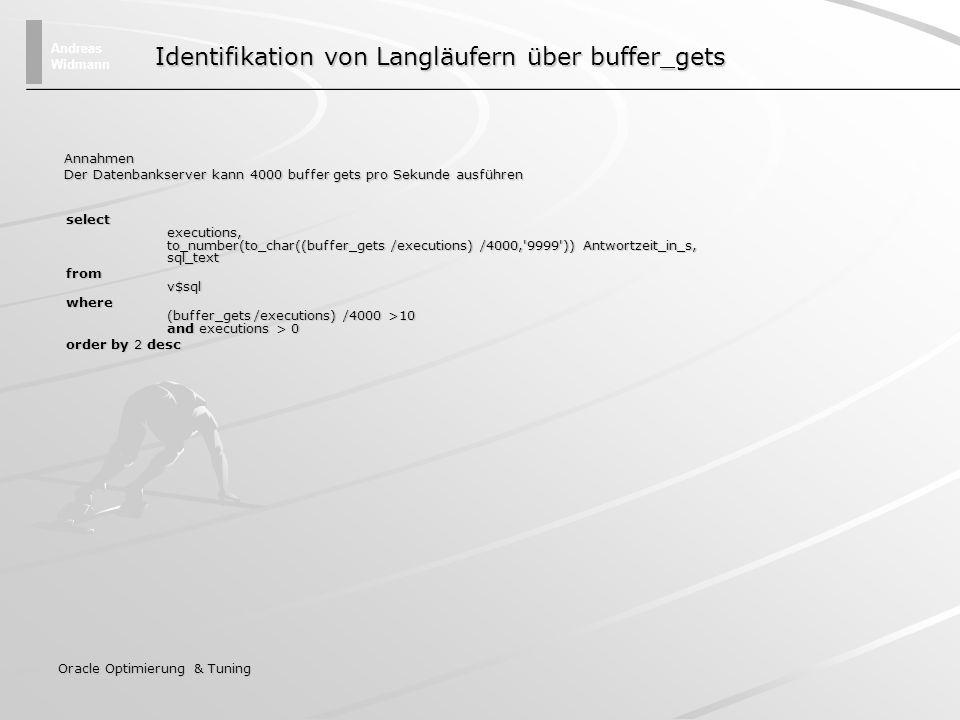 Identifikation von Langläufern über buffer_gets