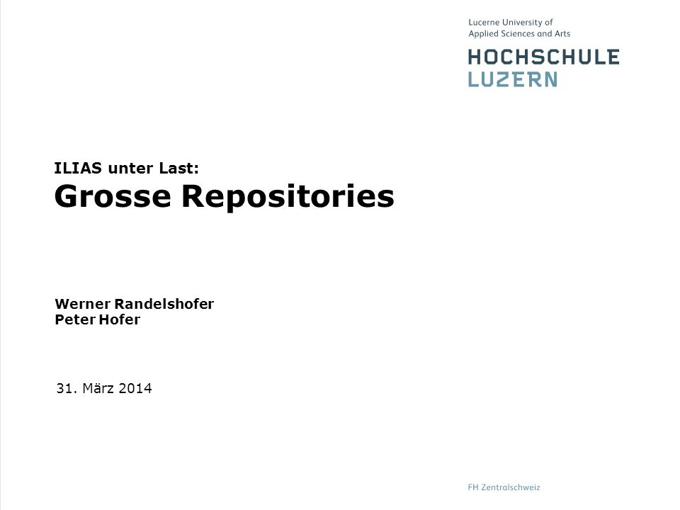 ILIAS unter Last: Grosse Repositories