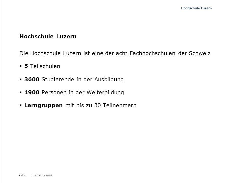 Die Hochschule Luzern ist eine der acht Fachhochschulen der Schweiz