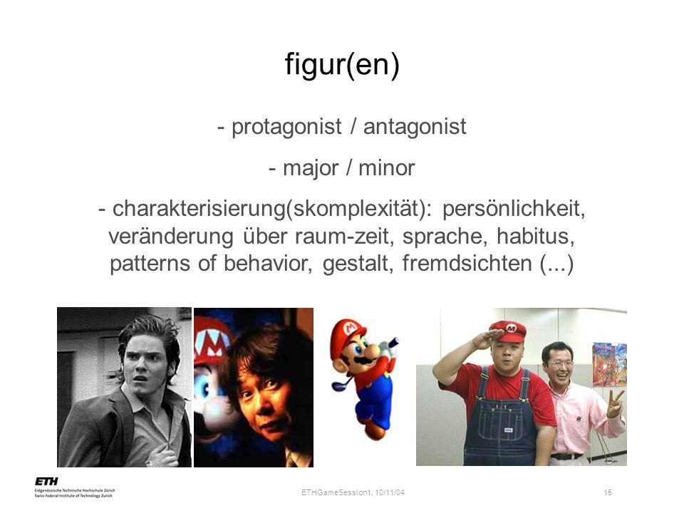 protagonist / antagonist