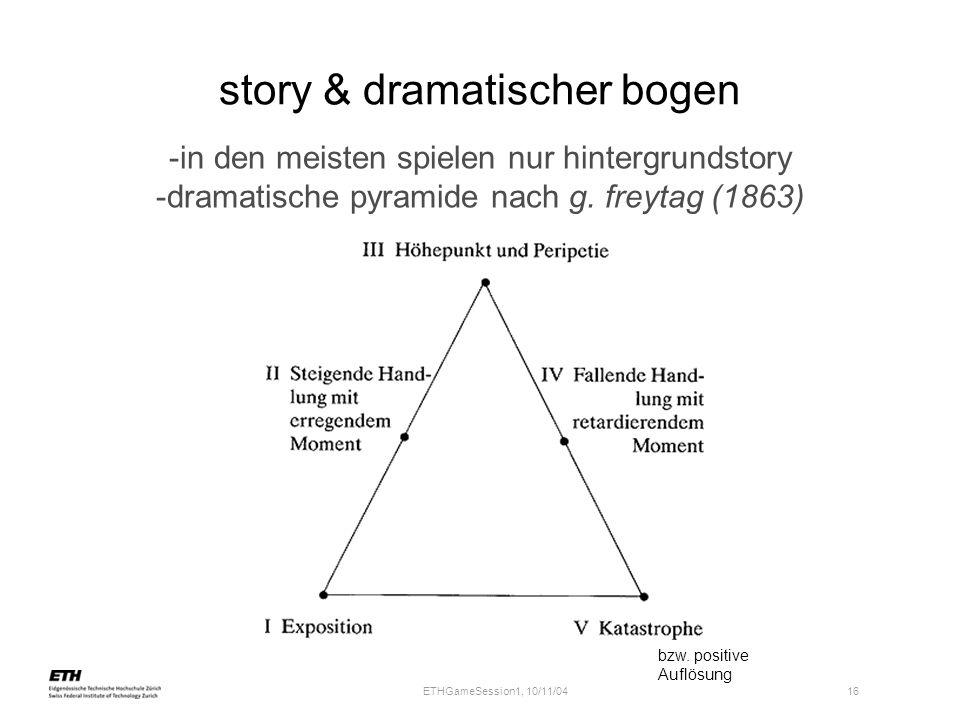 story & dramatischer bogen