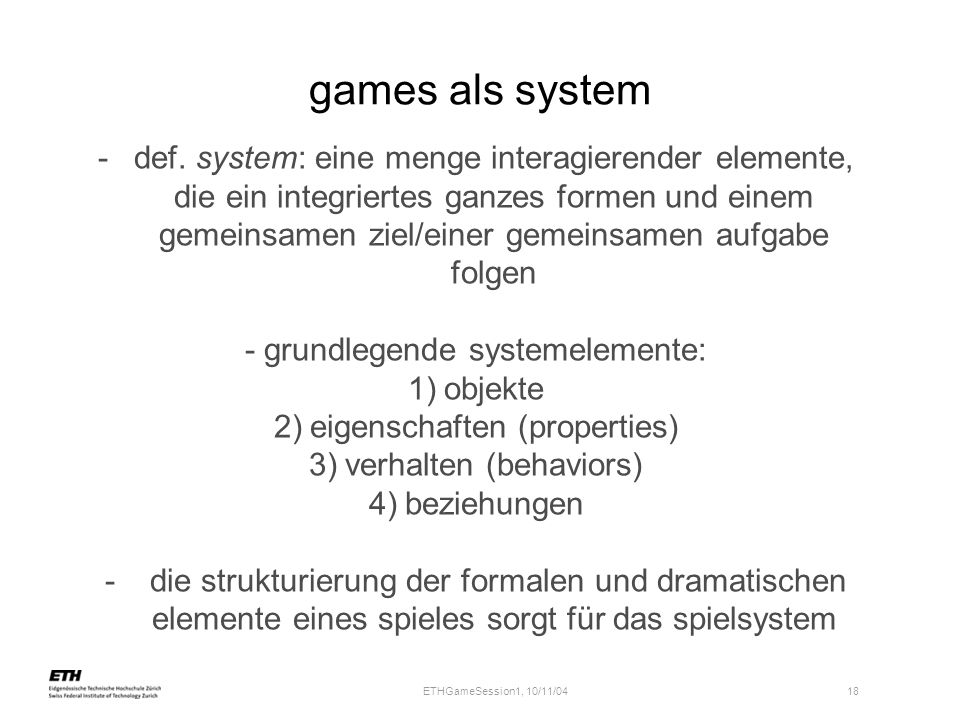 games als system
