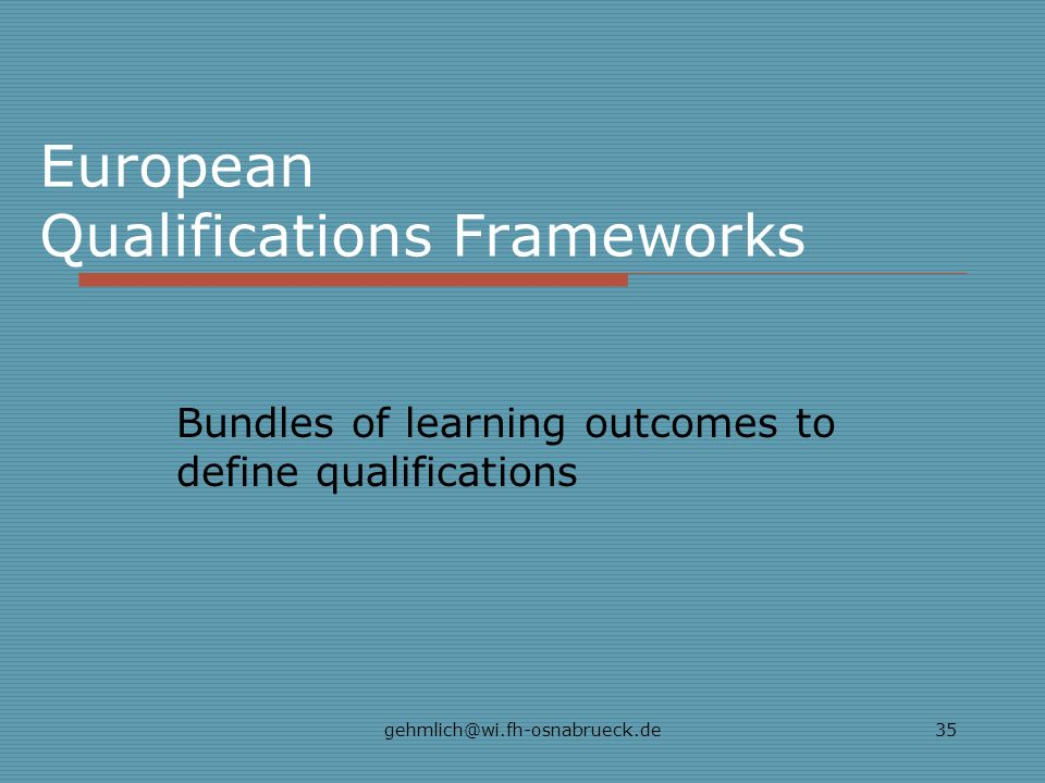 European Qualifications Frameworks