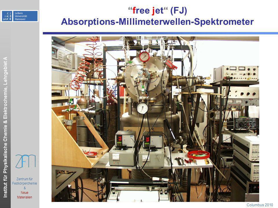free jet (FJ) Absorptions-Millimeterwellen-Spektrometer