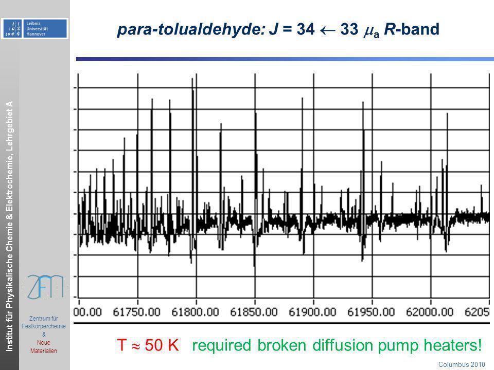para-tolualdehyde: J = 34  33 a R-band