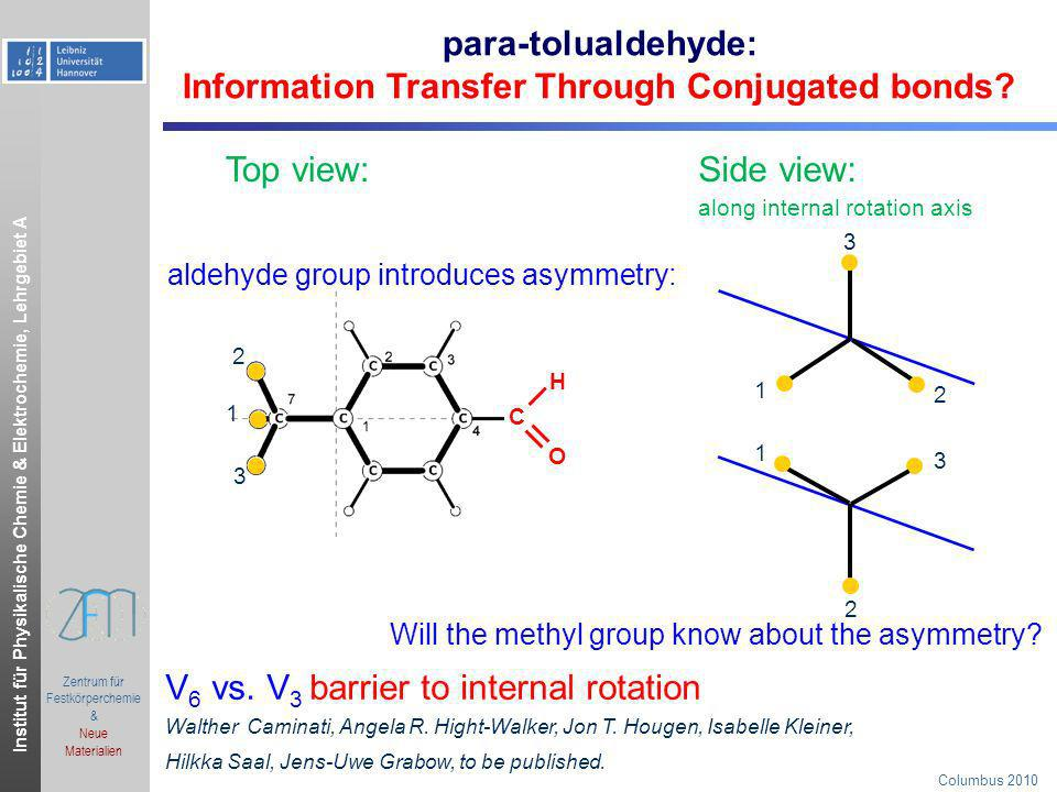 Information Transfer Through Conjugated bonds