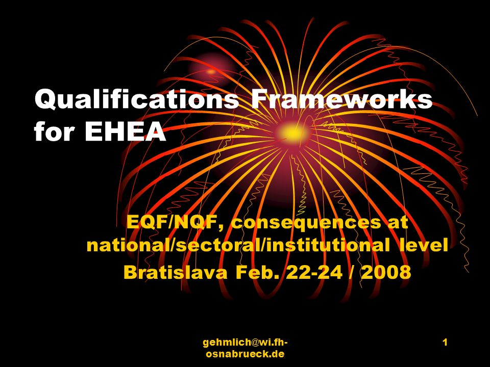 Qualifications Frameworks for EHEA