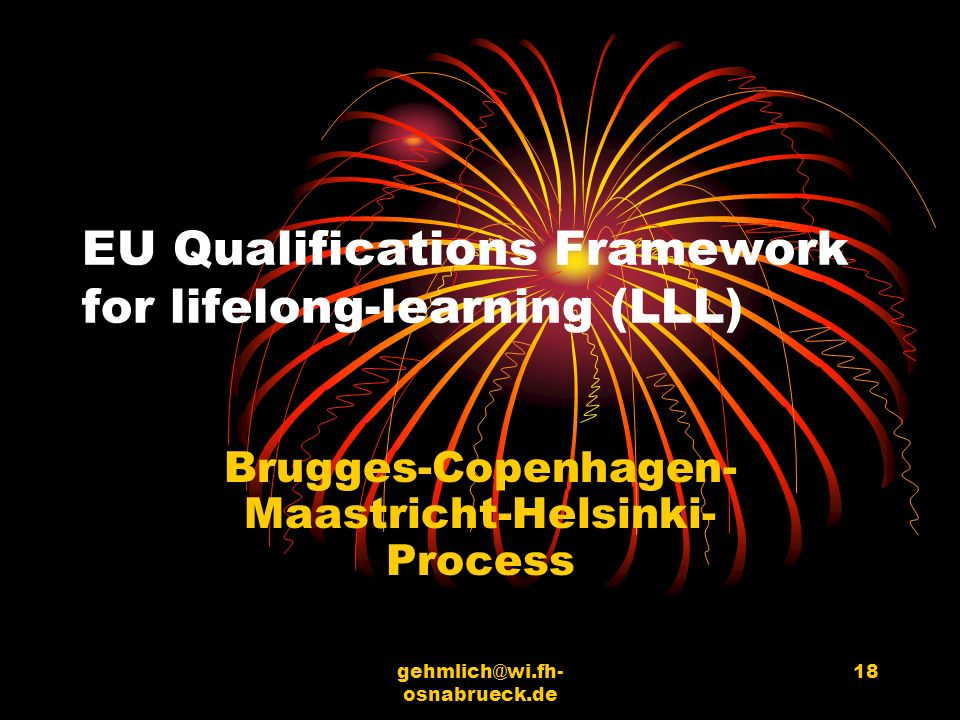 EU Qualifications Framework for lifelong-learning (LLL)