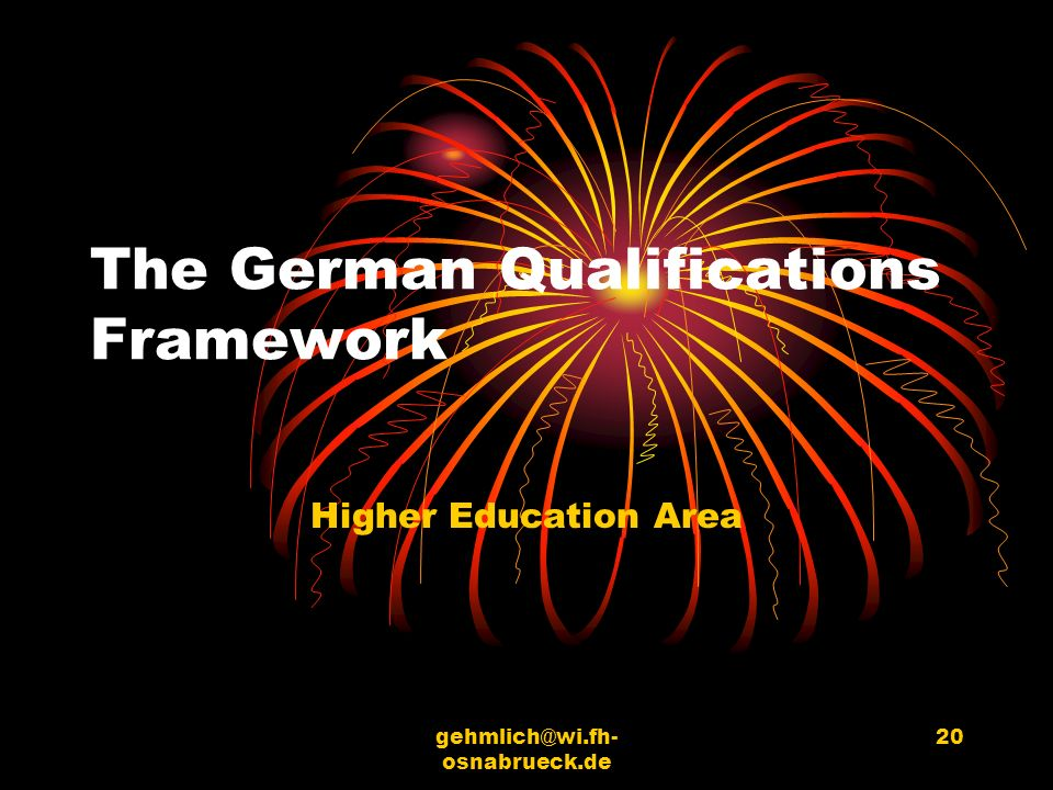 The German Qualifications Framework