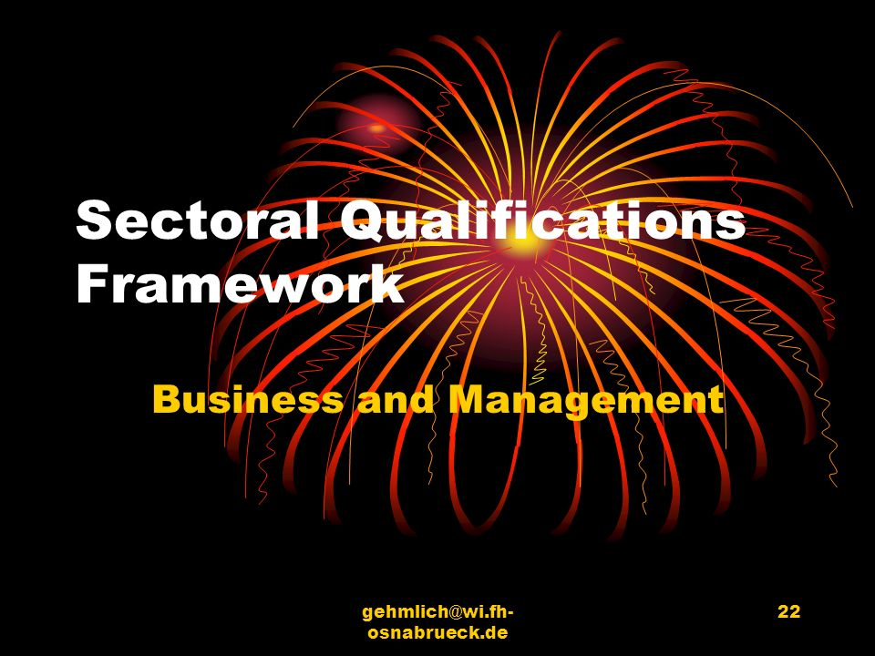 Sectoral Qualifications Framework