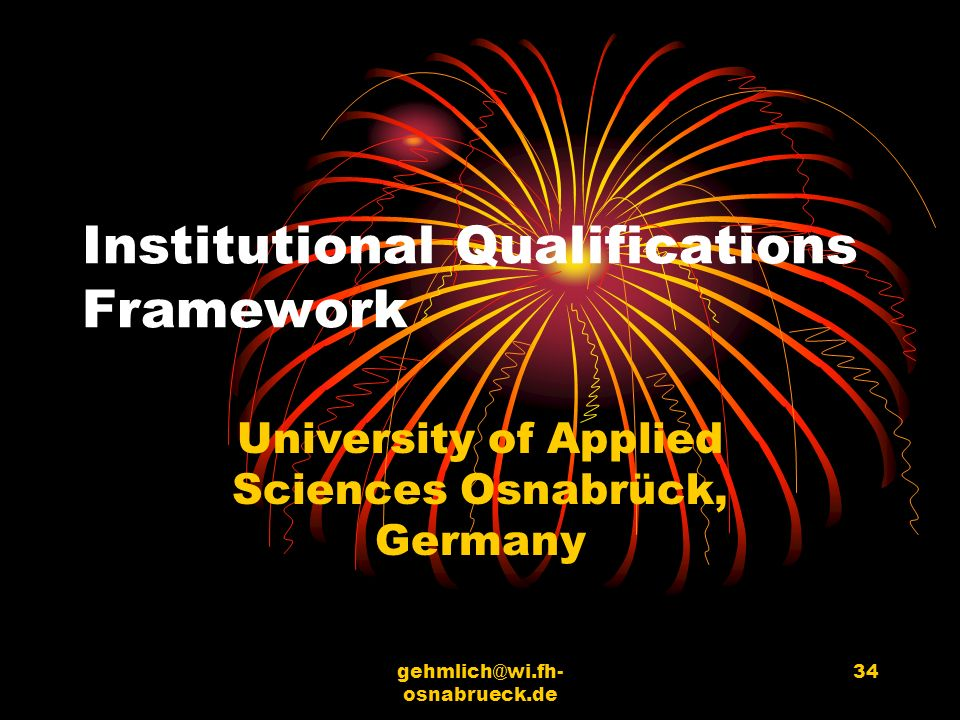 Institutional Qualifications Framework