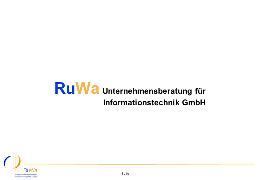 RuWa Unternehmensberatung für Informationstechnik GmbH