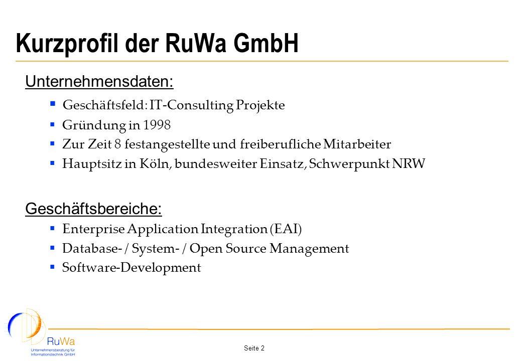 Kurzprofil der RuWa GmbH