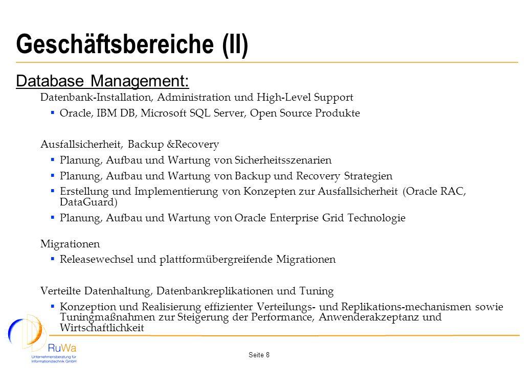Geschäftsbereiche (II)