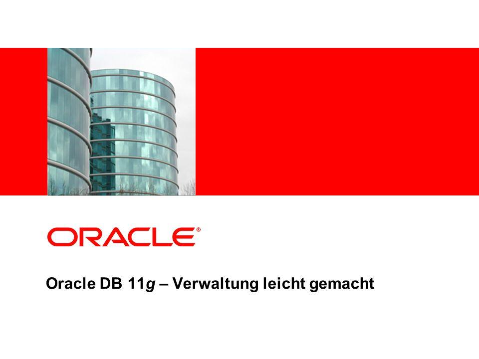 Oracle DB 11g – Verwaltung leicht gemacht