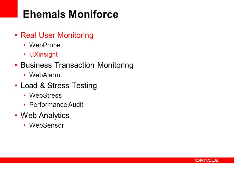 Ehemals Moniforce Real User Monitoring Business Transaction Monitoring