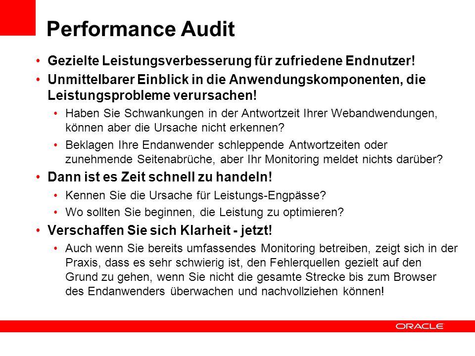 Performance Audit Gezielte Leistungsverbesserung für zufriedene Endnutzer!