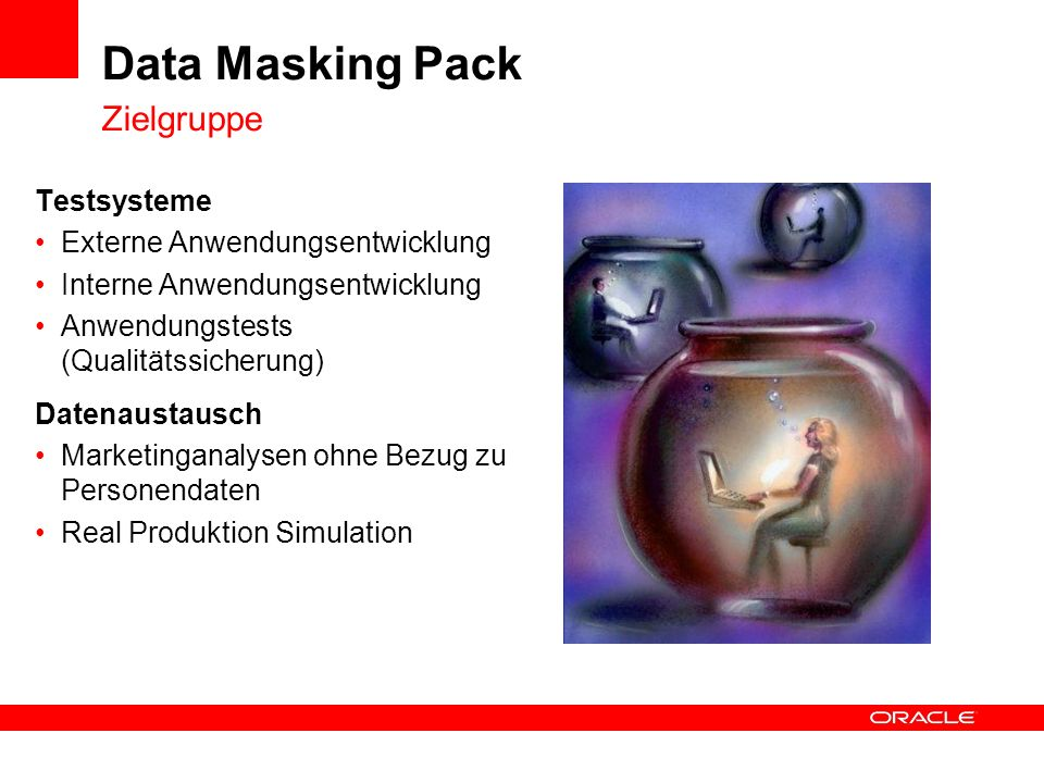 Data Masking Pack Zielgruppe