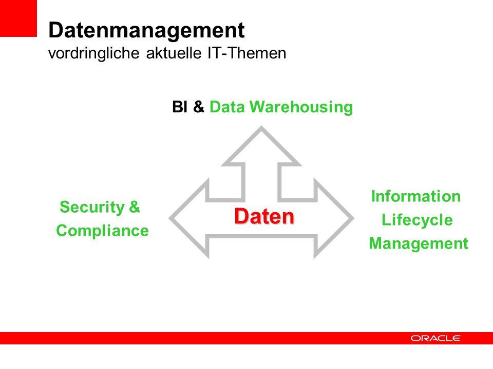 Datenmanagement vordringliche aktuelle IT-Themen